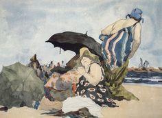 David Levine painting