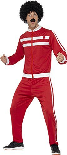Scouser Tracksuit Mens Fancy Dress 1980s Retro Sports 80s Adult Costume Outfit *** Click for Special Deals  #Halloween