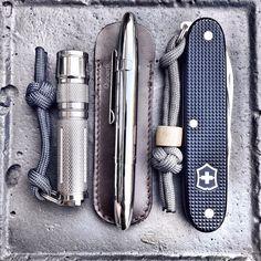 Fenix••05 + Fischer••Space Pen + Victorinox••Pioneer