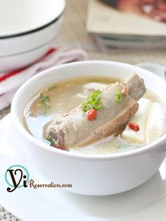 Fresh Chinese Yam with Spareribs Soup (山藥排骨湯)   Yi Reservation - one of my favourite home-cooked dishes