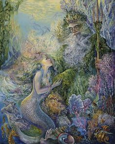 Find images and videos about fantasy, mermaid and josephine wall on We Heart It - the app to get lost in what you love. Josephine Wall, Fantasy Creatures, Mythical Creatures, Sea Creatures, Fantasy Mermaids, Mermaids And Mermen, Foto Fantasy, Fantasy Art, Art Expo