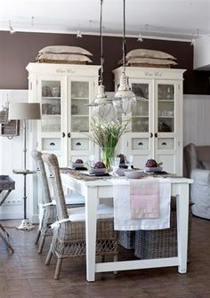 **1**dining space  (in the kitchen) and beautiful white cabinets