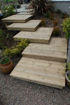 Dunadry Project - Rebel Without Applause Backyard Patio Designs, Yard Design, Backyard Landscaping, Sloped Backyard, Sloped Garden, Backyard Retaining Walls, Landscape Stairs, Outdoor Steps, Garden Stairs