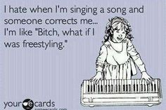 I never sing the right lyrics, and now I have a legitimate excuse. Hahaha