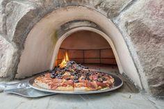 Pizzaofen Grillkamin selber bauen Essen Garten