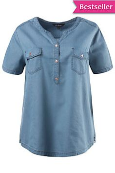 Shirt Blouses, Shirts, Denim Top, Couture, Jeans Style, Beautiful Outfits, Mens Tops, Clothes, Dresses