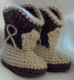 Crochet Cowboy Boots by MamaTCrafts on Etsy, $18.00