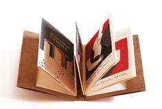 Little fanzine made in screen printing. Edition of sérigraphié… Up Book, Book Art, Art Zine, Scrapbook Journal, Print Layout, Book Layout, Book Format, Handmade Books, Book Binding