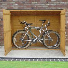 x Shire Wooden Bike Shed & Garden Storage Shiplap Cladding, Garage Velo, Shed Base, Garden Fence Panels, Bicycle Storage, Garden Bike Storage, Backyard Storage, Backyard Sheds, Gardens