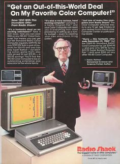Get an Out-of-this-World Deal on My Favorite Color Computer! Radio Shack, 1980s