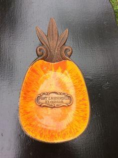 Treasure Craft 1969 Vintage Souvenir Pineapple Fort Lauderdale Florida