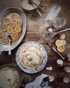 crêpe cake in the make...