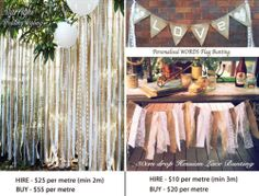Hire BUY Rustic Country Hessian Lace Fabric Strip Ribbon Bunting OR 2M Backdrop | eBay