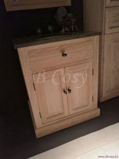 1-ll-bath-033w-landelijk wonen stijl badkamerkast badkamermeubel 1 persoon in white washed eik met arduinen wastafel