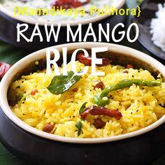 Mamidikaya Pulihora or Mangai Sadam or Raw Mango Rice Recipe South Indian style Sandwich Recipes, Bread Recipes, Vegan Recipes, Cooking Recipes, Rice Cooker Recipes, Detox Recipes, Paprika Sauce, Rice Recipes For Dinner, Vegetarian Breakfast Recipes
