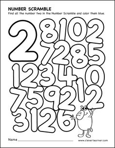 Number scramble activity worksheet for number 2 for preschool children Preschool Number Worksheets, Teaching Numbers, Numbers Kindergarten, Numbers Preschool, Preschool Math, Kindergarten Worksheets, Math Activities, Math For Kids, Fun Math