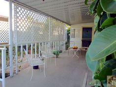 mobile home porch, Palm Springs