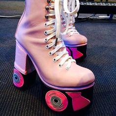 Sretsis roller skate platform boots
