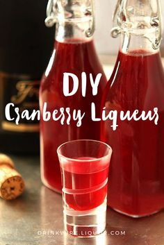 This favorite seasonal liqueur is simply cranberries, orange juice, orange zest, sugar and vodka. Simple ingredients but added together and given a couple of weeks to age and you'll have something amazing to share as a Christmas gift or drink through Thanksgiving! Cranberry Liqueur is the DIY project you'll want to do every holiday season!