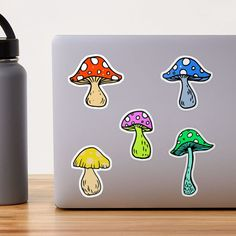 """""""Psychedelic Mushrooms Shrooms Pack"""" Sticker by julieerindesign 