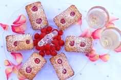 Valentine's Day Raspberry Financiers