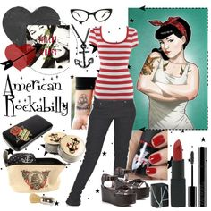 """""""American Rockabilly"""" by rorie-burke on Polyvore"""