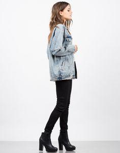 Oversized Vintage Washed Denim Jacket - Jean Jacket – Outerwear – 2020AVE