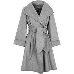 Paule Ka Belted Wool Blend Coat