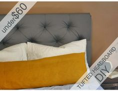 oil and blue: Queen-Size Tufted Headboard for under $60