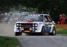 Fiat 131 Abarth Rally Raid, Classic Race Cars, Car Racer, Fiat Abarth, Old School Cars, Classic Monsters, Small Cars, Car And Driver, Vintage Racing