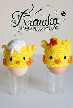 Crocheted Easter Egg Cozies & Covers Patterns