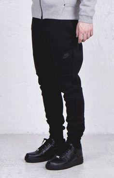 Nike Tech Pants × AF1 black