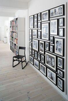tout un mur en noir & blanc