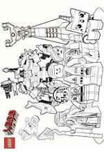 coloring pageS from the lego movie
