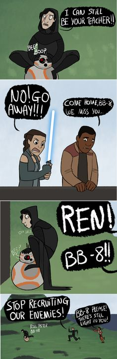"""kelgrid: """"Beed boop <Your droid is gone. He was weak and foolish, like his master. So I destroyed him.>"""""""