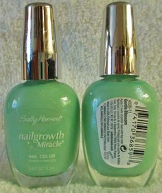 Sally Hansen Nailgrowth Miracle Nail Polish Gentle Blossom #160 Green Lacquer #SallyHansen