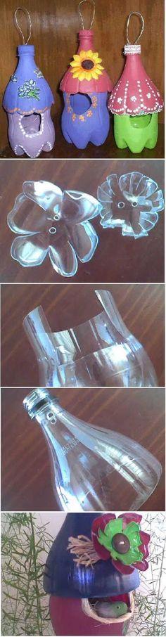Quanta criatividade! gostei! Estas dicas vão te ser muito úteis e ajudar a decorar a tua casa de forma linda e única! - Aprenda a preparar essa maravilhosa receita de 30 Maneiras geniais de reutilizar garrafas de plástico! Úteis e super criativas!