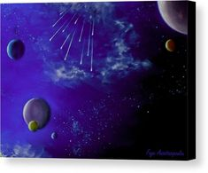 Canvas print, painting, space,cosmos,universe,planets,comets,stars,spacescapes,night,nightscapes,skyscapes,galaxy,sky,celestial,stellar,solar,moon,astronomy,cosmic,light,starry,fantastic,purple,blue,vivid,bright,vibrant,colorful,shades,mystery,mystical,eerie,magical,surreal,whimsical,scenes,impressive,beautiful,contemporary,modern,picturesque,in,at,the,of,fine,art,oil,artworks,milky way,decor,artistic,items,products,for sale,fine art america