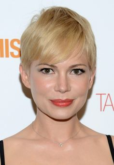 Short Blonde Pixie Haircut with Side Swept Bangs for Fine Hair ...