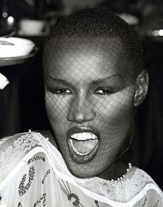 Grace Jones (born: May 19, 1948, Spanish Town, Jamaica) is a Jamaican singer, songwriter, lyricist, supermodel, record producer and actress. Her well-known albums are Portfolio (1977), Fame (1978), Muse (1979), Warm Leatherette (1980), Nightclubbing (1981), Living My Life (1982), Slave To The Rhythm (1985), Inside Story (1986) and Bulletproof Heart (1989). She acted in the movies Conan The Destroyer (1984), A View To A Kill (1985), Boomerang (1992) and others.