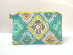 Turquoise Moroccan Tile Medallion Print by LittleMissPoBean