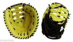 """Akadema 33"""" Fast Pitch Series AAR64 Softball Catcher   33"""" circumference pattern two-tone, double T-web, closed back w/ pull strap, and deep pocket designed for a fast pitch softball catcher.  Designed with Akadema's Pro Thunderpocket to give a slamming sound when catching the ball."""