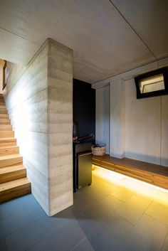 rammed earth interior