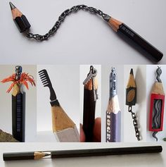 - Most bizarre sculptures you might ever see Cerkahegyzo's pencils sculptures are simply stunningCerkahegyzo's pencils sculptures are simply stunning Bleistift Design, Pencil Carving, Art Sculpture, Crayon Art, Wow Art, Art Plastique, Pencil Art, Cool Drawings, Amazing Art