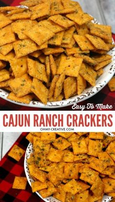 I will show you How To Make Crack Crackers Spicy In Cajun Dill Ranch - it's insa. - I will show you How To Make Crack Crackers Spicy In Cajun Dill Ranch – it's insanely good! Crack Crackers, Spicy Crackers, Seasoned Crackers, Spicy Ranch Crackers Recipe, Homemade Crackers, Homemade Breads, Potato Appetizers, Appetizer Recipes, Party Appetizers