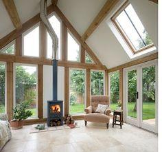 from little acorns.........: oak frame garden room or oak framed sunroom?