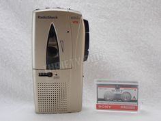 RadioShack VOX Voice Activated Micro-45 Microcassette Recorder & MC-90 Cassette #RadioShack