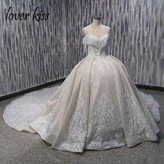 Lover Kiss robe de mariee princesse de luxe 2019 Crystal Sweetheart Wedding  Dress Ball Bridal Gown Real Photos Customize mariage 54a627ade474