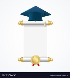 Graduated cap student and roll diploma vector image on VectorStock Preschool Graduation, Graduation Diy, Graduation Decorations, Creative Poster Design, Creative Posters, Creative Photos, Disney Cinderella Castle, Free Printable Banner Letters, Brochure Cover Design