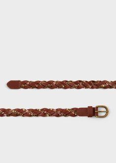Cinturón trenzado | MANGO KIDS